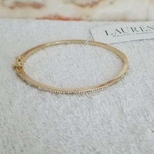 New Ralph Lauren Pave Hinge Bangle Bracelet